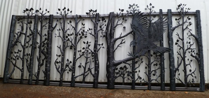 Birch Trees and Eagle Gate, Design by DXF Design #dxfdesign #dxf #plasma #laser #waterjet #cnc #metalart #welding