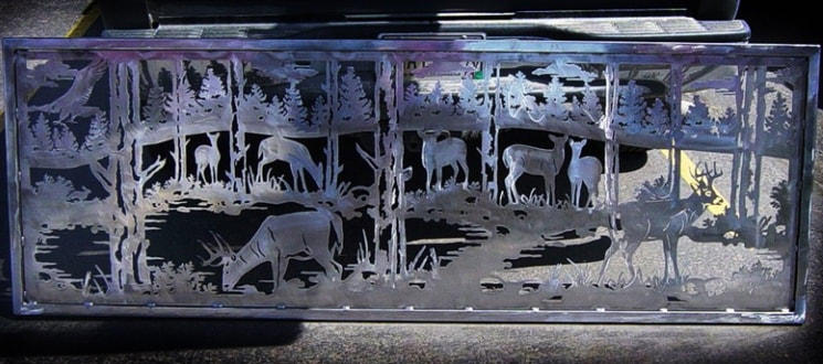 Whitetail Railing Panel by DXF Design #dxfdesign #dxf #dxffiles #plasma #laser #waterjet #cnc #metalart #silhouette #welding